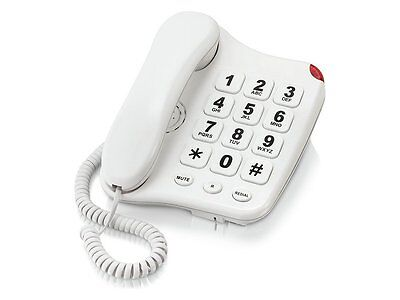 Simple Value Big Button Telephone.White B110