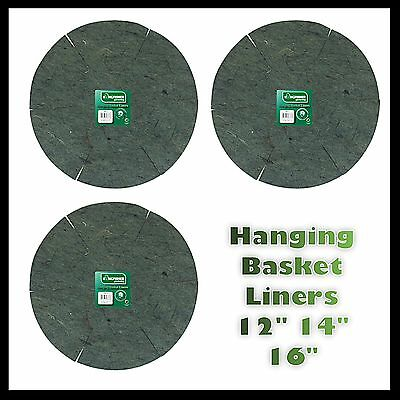 "Hanging Basket Liners 12"" 14"" 16"" 30cm 35cm 40cm Save with Mutiliple Listing Uk"