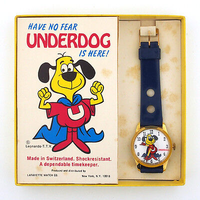 1973 Underdog Character Watch by Lafayette in the Original Box