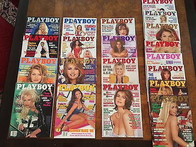 Playboy Magazine Lot of  20 -  (8) 1996, 1998 complete year