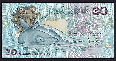 Cook Islands (1987) 20 Dollars P5a Scarce First issue Signed Thomas Davis UNC