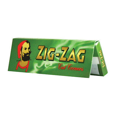 1000 Zigzag Green Regular Cigarette Papers 20 Booklets Of 50 Papers  !Free P&P!