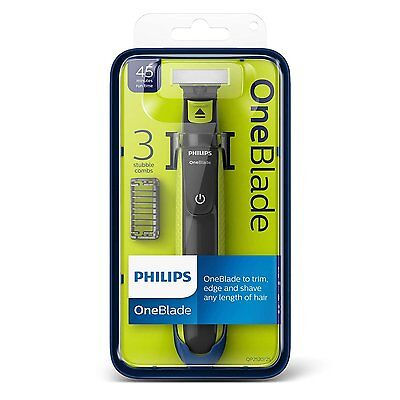 Philips Oneblade Qp2520/25 + 3 Stubble Combs One Blade To Trim Edge And Shave