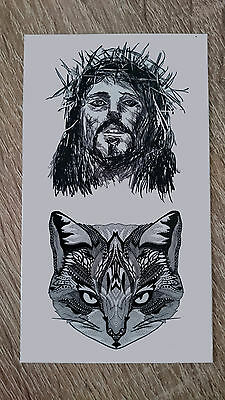 10x6cm Sheet-High-Quality-Fake-Tatto-Jesus-Waterproof-Temporary-Party-Cool
