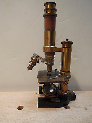 Antique Rare Bausch & Lomb Model Aa Microscope