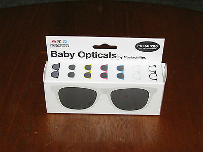 Pair of MUSTACHIFIER BABY OPTICALS White Polarized SUNGLASSES 0-2 Years New