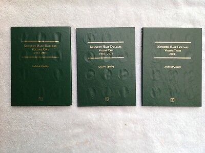 COMPLETE KENNEDY HALF DOLLAR COLLECTION, 1970D - 2017 in 3 new folders