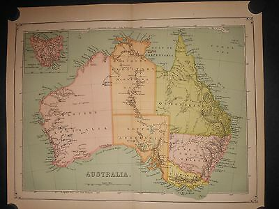 Australia 1873 color map Tasmania Van Diemans Land