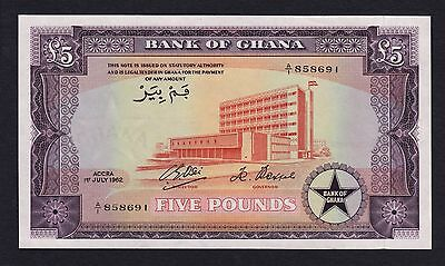 Ghana 5 pounds 1962 P3 Unc wonderful bright colors