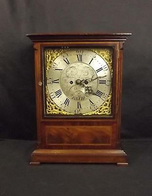 Fine Circa 1810 Mahogany Bracket Clock By William Bullock Of Bath