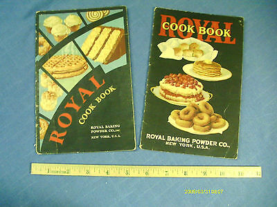 Two old Royal Baking Powder cook books / pamphlets - 1928, 1929