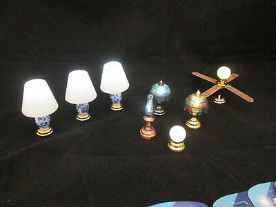 1:12 Scale Dollhouse Miniature Battery Operated Lights w/ Batteries 8 in All