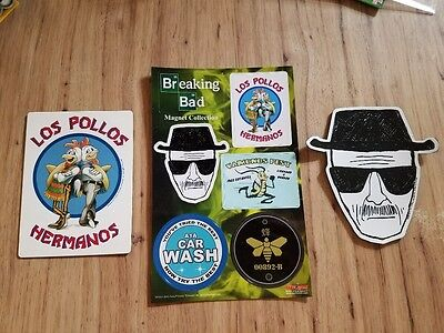 Breaking Bad Los Pollos Walter & a 6 Pc Magnet Set Great Show