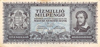 Hungary  10 Million Milpengo  24.5.1946  P 129  Circulated Banknote GH14