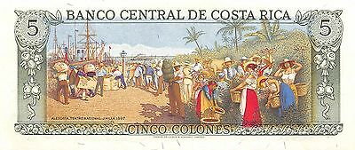 Costa Rica  5 Colones   7.4.1983  Series D  Uncirculated Banknote Bj9