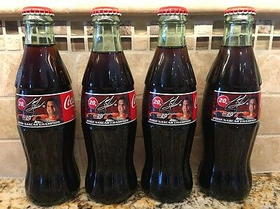 Lot Of 4 Coca-Cola Bottles: Tony Stewart 2002 Nascar Champion, Full & Unopened