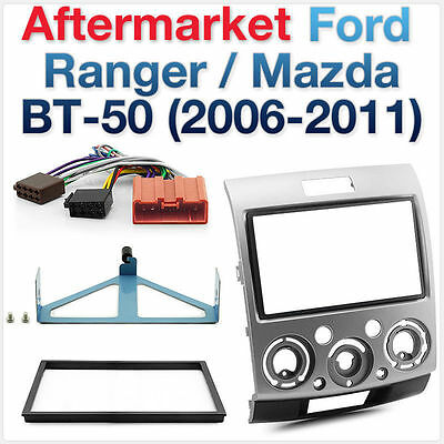 Ford Ranger PJ-PK & Mazda BT-50 Double-DIN Facia Fascia Kit ISO Wiring Harness