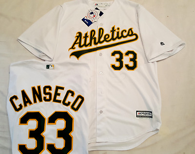 timeless design b3975 0e150 JOSE CANSECO HOME Oakland Athletics A's Cool Base Jersey Majestic Pick Size