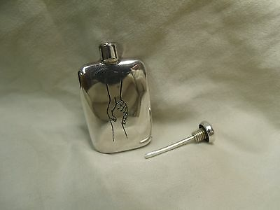 Vintage TIFFANY & Co Sterling Silver Perfume scent purse bottle Hands Grasping