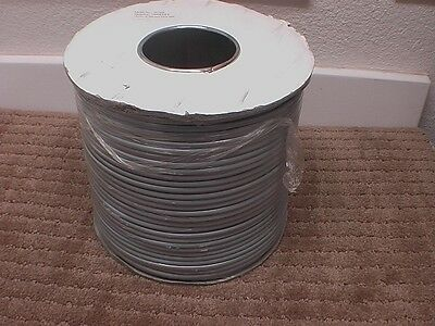 1000ft 28AWG 4-Conductor Silver Satin Modular Flat Telephone Cable Reel
