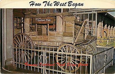 How the West Began - Famous Overland Trail Stagecoach 1866 model Postcard