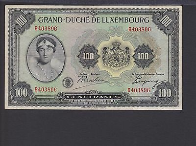 Luxembourg 100 Francs ND (1934) P39 VF