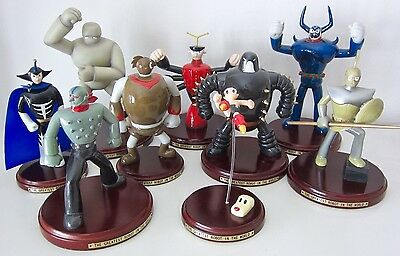 Astroboy Characters 9 Piece Sculpture Set. Extremely Rare. Tezuka 1999