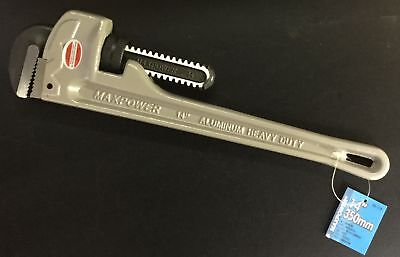 "(2) 00-114 14"" Maxpower Aluminum Pipe Wrench #1403"