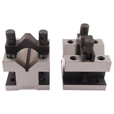 "HHIP 3402-0001 7/16 Capacity Precision V-Block & Clamp Set, 1-3/8"" Length x"