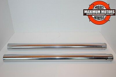 """Fork Tubes 41 Mm  24 1/4"""" Harley Fxst Fxstb Fxstc Softail 84 Up  & Fxdwg 93-05"""
