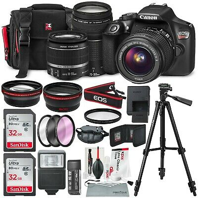 Canon EOS Rebel T6 DSLR Camera with EF-S 18-55mm f/3.5-5.6 IS II Lens, EF 75-300