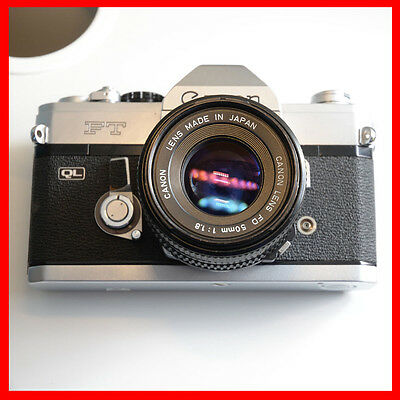 Canada fast shipping, Canon FT QL35mm SLR Film Camera with 50mm F1.8 manual lens
