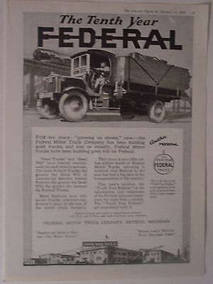 1920 Fereral Motor Truck   Ad From Literary Digest Magazine
