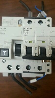 SIEMENS 5SM2-322-0 RC UNIT w/ 5SY42 MCB C6 MINIATURE CIRCUIT BREAKER 6A 2-POLE
