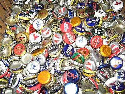 Mixed Lot of 100 Beer Bottle Caps *NO DENTS* 30+ Different Brands