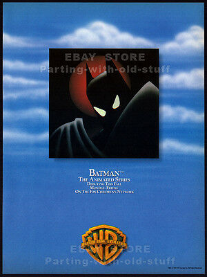 BATMAN - The Animated Series__Original 1992 Trade AD / debut promo__Warner Bros.