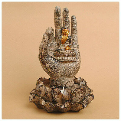 Candle Holder: Teaching Mudra/lotus Buddha 7 Inch Weather Resistant