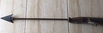 """Antique Authentic Whaling Harpoon 72"""" Nautical Decor Man Cave, Fishing Cabin!"""