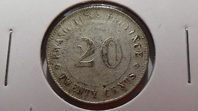 China 1921 20 Cents Kwang Tung Province Silver Numismatic Coin Hot Lower Grade