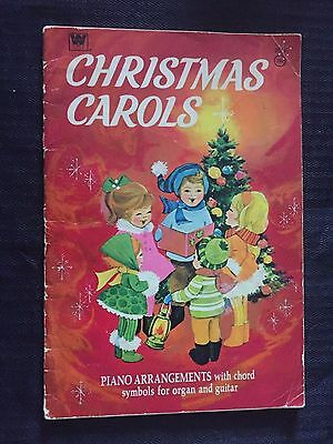 Christmas Carols Music Song Book Piano Arrangements Chords for organ & guitar
