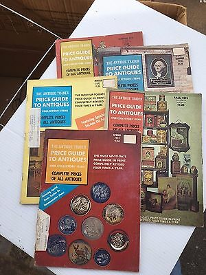 Early 1970's Antique Trade Price Guide To Antiques Lot of 5 Books