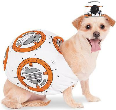 BB-8 Droid Star Wars Force Awakens Fancy Dress Halloween Pet Dog Cat Costume