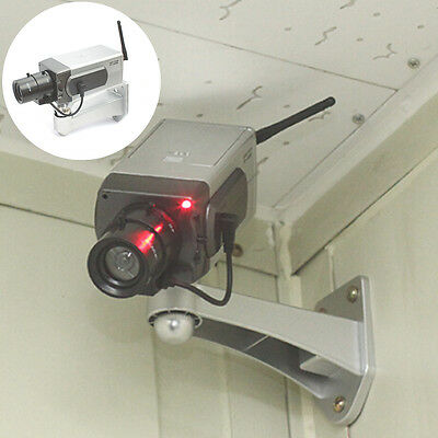 Dummy CCTV Camera Motion Detection Sensor Motorized Pan Movement Blinking LED IG