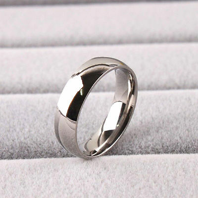 50x Silver Polished Comfort-fit 6mm Band Stainless Steel Wedding Rings Job Lots