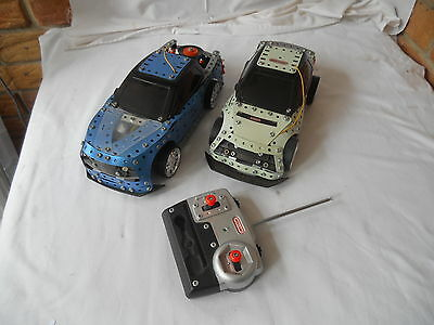 2 X Meccano Huracan Radio Control Cars Ready Built  Meccano Rc Car Kit