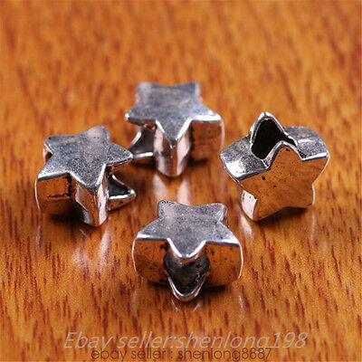 20 Pieces 11*12mm 3D Stars Connector Tibetan Silver Jewelry Bracelet 7300