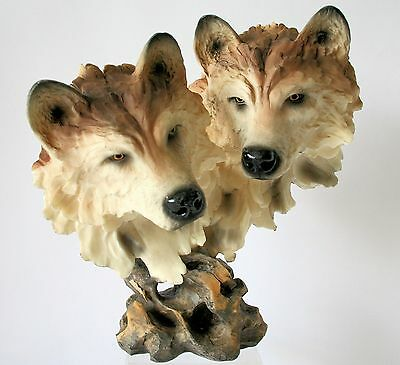 """BROWN WOLF Figurine Statue 10"""" Resin Trippie's NEW IN PICTURE BOX"""