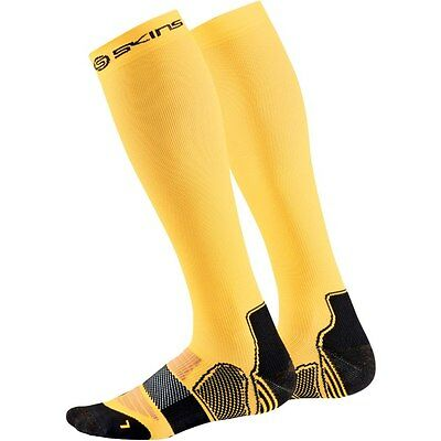 Skins Men's Active Essentials Compression Socks Yellow/Black Small