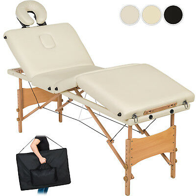 Mobiele 4 zones massagetafel vouwbar massagebank massagebed + draagtas