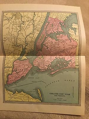 Vintage 1904 Greater New York And Vicinity Map